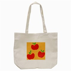 Apple Fruit Red Orange Tote Bag (cream)