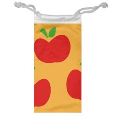 Apple Fruit Red Orange Jewelry Bag