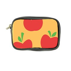 Apple Fruit Red Orange Coin Purse