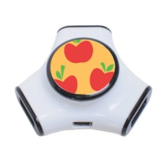 Apple Fruit Red Orange 3 Port Usb Hub by Alisyart