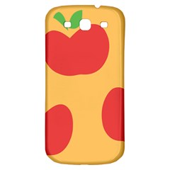 Apple Fruit Red Orange Samsung Galaxy S3 S Iii Classic Hardshell Back Case