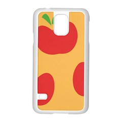 Apple Fruit Red Orange Samsung Galaxy S5 Case (white)