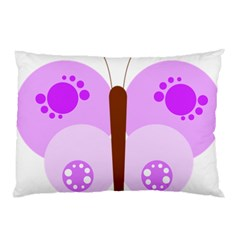 Butterfly Flower Valentine Animals Purple Brown Pillow Case (two Sides) by Alisyart