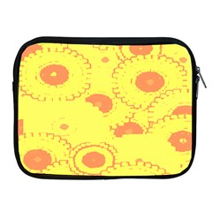 Circles Lime Pink Apple Ipad 2/3/4 Zipper Cases