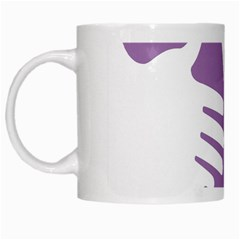 Colorful Butterfly Hand Purple Animals White Mugs