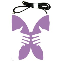 Colorful Butterfly Hand Purple Animals Shoulder Sling Bags