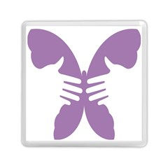 Colorful Butterfly Hand Purple Animals Memory Card Reader (square)