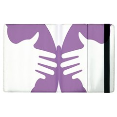 Colorful Butterfly Hand Purple Animals Apple Ipad 2 Flip Case by Alisyart