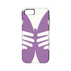 Colorful Butterfly Hand Purple Animals Apple Iphone 5 Classic Hardshell Case (pc+silicone)