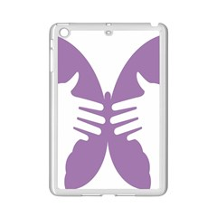 Colorful Butterfly Hand Purple Animals Ipad Mini 2 Enamel Coated Cases