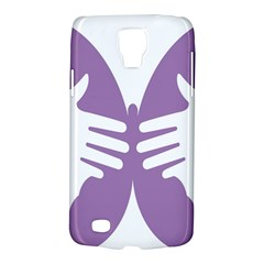 Colorful Butterfly Hand Purple Animals Galaxy S4 Active by Alisyart