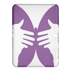 Colorful Butterfly Hand Purple Animals Samsung Galaxy Tab 4 (10 1 ) Hardshell Case