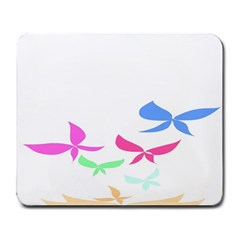 Colorful Butterfly Blue Red Pink Brown Fly Leaf Animals Large Mousepads