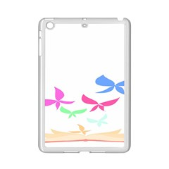 Colorful Butterfly Blue Red Pink Brown Fly Leaf Animals Ipad Mini 2 Enamel Coated Cases