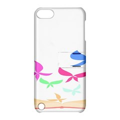 Colorful Butterfly Blue Red Pink Brown Fly Leaf Animals Apple Ipod Touch 5 Hardshell Case With Stand by Alisyart