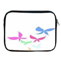 Colorful Butterfly Blue Red Pink Brown Fly Leaf Animals Apple Ipad 2/3/4 Zipper Cases