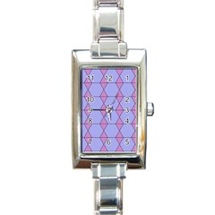 Demiregular Purple Line Triangle Rectangle Italian Charm Watch by Alisyart