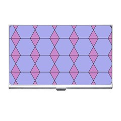 Demiregular Purple Line Triangle Business Card Holders by Alisyart