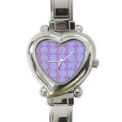 Demiregular Purple Line Triangle Heart Italian Charm Watch by Alisyart