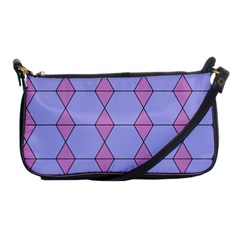 Demiregular Purple Line Triangle Shoulder Clutch Bags