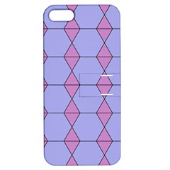 Demiregular Purple Line Triangle Apple Iphone 5 Hardshell Case With Stand