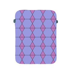 Demiregular Purple Line Triangle Apple Ipad 2/3/4 Protective Soft Cases
