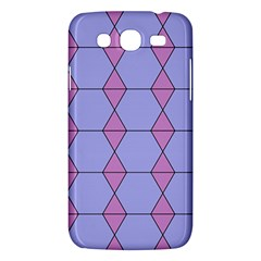 Demiregular Purple Line Triangle Samsung Galaxy Mega 5 8 I9152 Hardshell Case