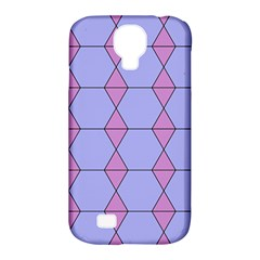 Demiregular Purple Line Triangle Samsung Galaxy S4 Classic Hardshell Case (pc+silicone)