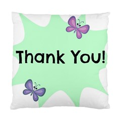 Colorful Butterfly Thank You Animals Fly White Green Standard Cushion Case (two Sides) by Alisyart
