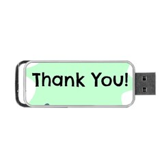 Colorful Butterfly Thank You Animals Fly White Green Portable Usb Flash (two Sides)