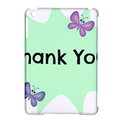 Colorful Butterfly Thank You Animals Fly White Green Apple Ipad Mini Hardshell Case (compatible With Smart Cover)