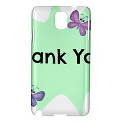 Colorful Butterfly Thank You Animals Fly White Green Samsung Galaxy Note 3 N9005 Hardshell Case