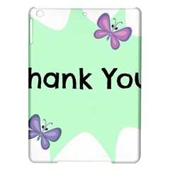 Colorful Butterfly Thank You Animals Fly White Green Ipad Air Hardshell Cases