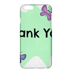 Colorful Butterfly Thank You Animals Fly White Green Apple Iphone 6 Plus/6s Plus Hardshell Case