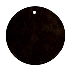 Bear Skin Animal Texture Brown Round Ornament (two Sides)