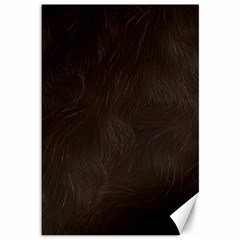Bear Skin Animal Texture Brown Canvas 12  X 18