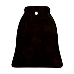 Bear Skin Animal Texture Brown Bell Ornament (two Sides) by Alisyart