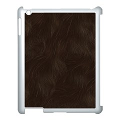 Bear Skin Animal Texture Brown Apple Ipad 3/4 Case (white)