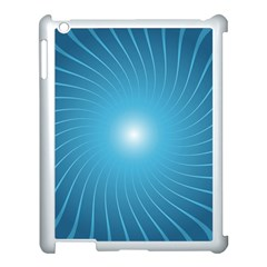 Dreams Sun Blue Wave Apple Ipad 3/4 Case (white)