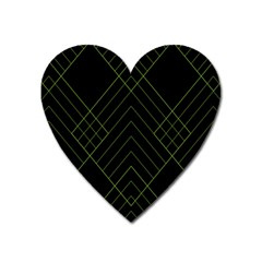 Diamond Green Triangle Line Black Chevron Wave Heart Magnet by Alisyart
