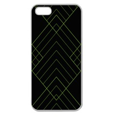 Diamond Green Triangle Line Black Chevron Wave Apple Seamless Iphone 5 Case (clear)