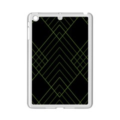 Diamond Green Triangle Line Black Chevron Wave Ipad Mini 2 Enamel Coated Cases