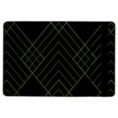 Diamond Green Triangle Line Black Chevron Wave Ipad Air 2 Flip by Alisyart