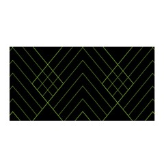 Diamond Green Triangle Line Black Chevron Wave Satin Wrap by Alisyart
