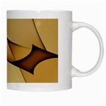 Edge Gold Wave White Mugs Right