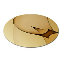 Edge Gold Wave Oval Magnet