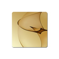 Edge Gold Wave Square Magnet