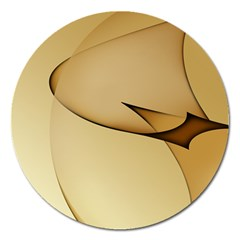 Edge Gold Wave Magnet 5  (round) by Alisyart