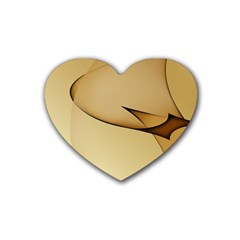 Edge Gold Wave Rubber Coaster (heart)  by Alisyart