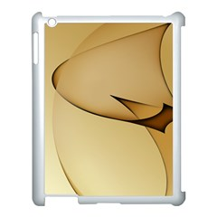 Edge Gold Wave Apple Ipad 3/4 Case (white)